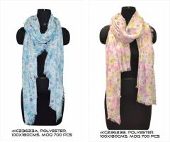 Multicolor omen scarf