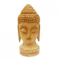 Wooden Carving Buddha Face