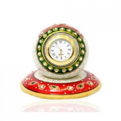 Stone Table Round Clock