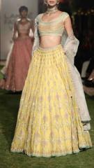 Yellow color designer dress
