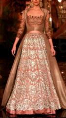 Brown color Indowestern stylish wedding Dress
