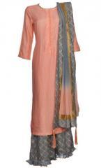 Purple & Peach indo western dress