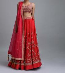 Red color Bridal Dress
