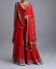 Red Color Indo western Dress
