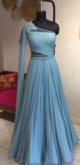 Blue color Indowestern Party Wear