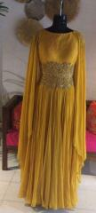 Mustard Color Indo Western dress