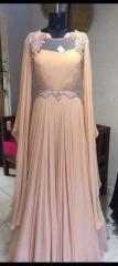 Peach color Indo western dress