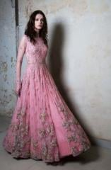 Pink color heavy Embroiderd Gown