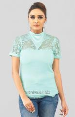 Green color hand embroidered Top
