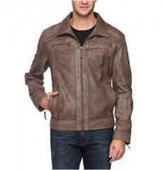 Dual Tone color slim fit men's leather