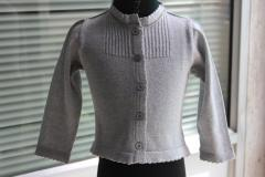 Grey lurex shrug / reverse print on sweater