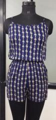 Blue color printed women jumpsuit