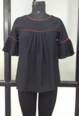 Black color with maroon strip women top