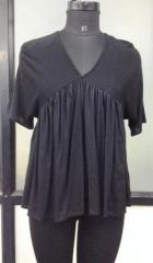 Black color flared women top