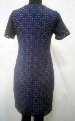 Black color printed women dress