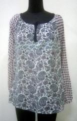 Multicolor with neck dorrie Women top