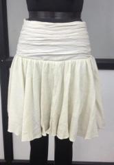 White color multi flared Mini Skirt