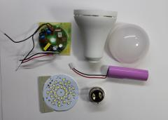 Rechargeable 12W LED Bulb SKD Kit