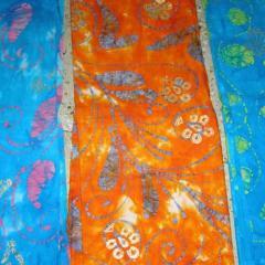 Batik Free Hand Gold Print