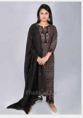 Ajrakh Black Print Straight Fit Kurta With...