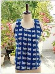 Indigo Sleeveless Short Top