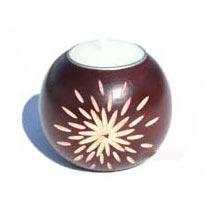 Mango Wood Tea Light Candle Holder
