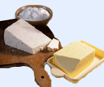 Butter (yellow and white)