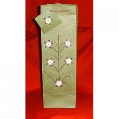 Paper Wine Bags (Pressed Flower)