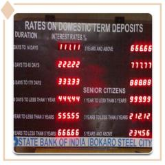 Fixed Deposit Interest LED Display Boards