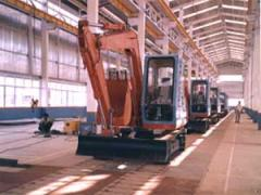 Double Slat Conveyor for Mini-Excavator Assembly