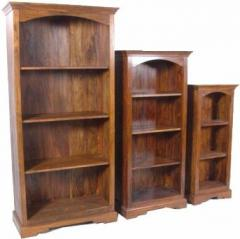 Bookshelf with two folding shelves
