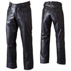 Men's 5 Button Leather Pants