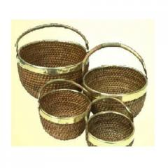 Cane/ratten round deep bowl