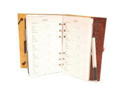 Leather Cover Telephone Diaries & Address