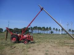 Pole Erection Machine