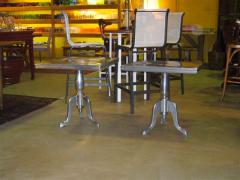 Furniture made of Aluminium metal.