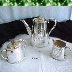 Brass Silver Tea Set Made