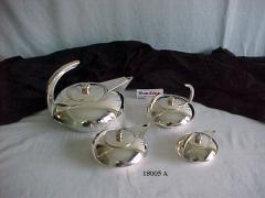 Coffe sets/ Tea Set Made of brass with silver