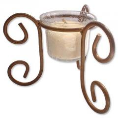 A Rich Aroma : Wrought Iron Glass Candle Stand