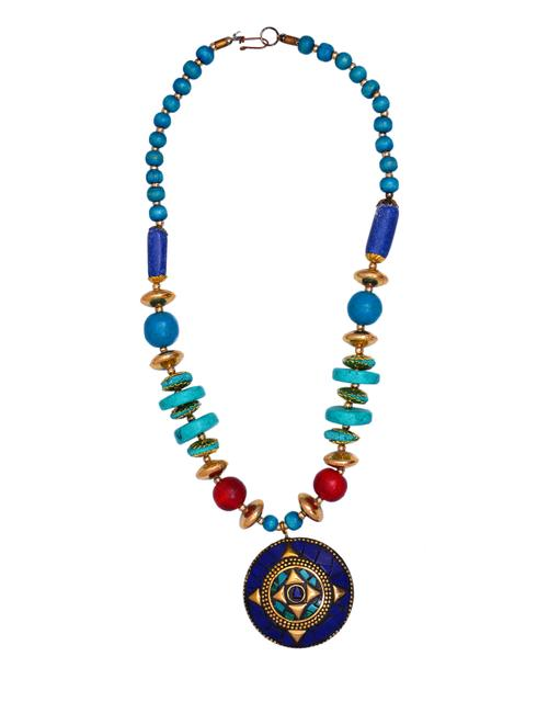 necklace_chain_with_glass_beads_red_blue_mosaic