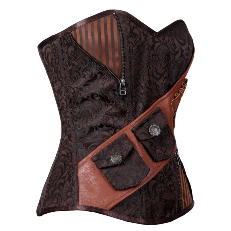 yesfir_steampunk_overbust_corset_coffee_black