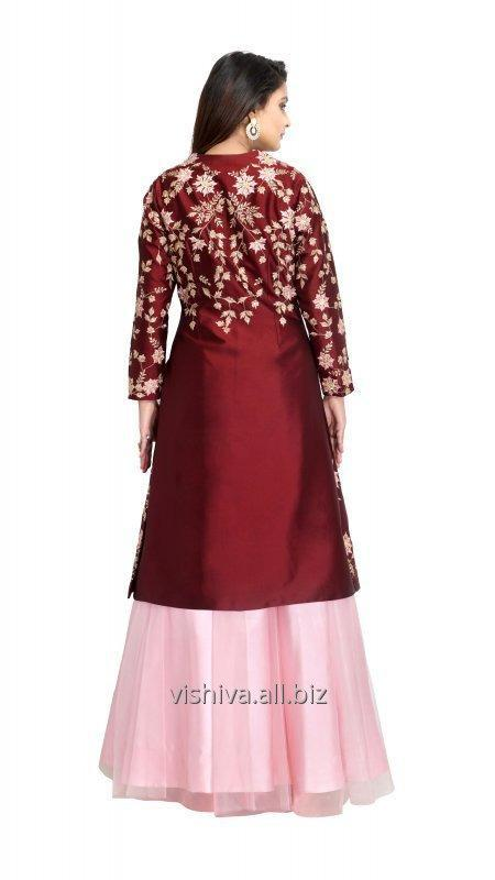 mehroon_and_pink_color_lehenga_with_long_top_and