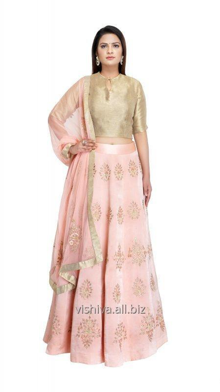 peach_golden_color_lehenga_with_top_and_dupatta