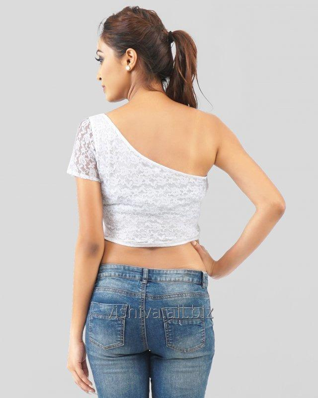 white_net_one_shoulder_crop_top