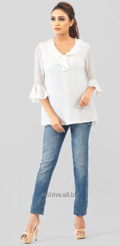 white_georgette_ruffle_sleeves_top