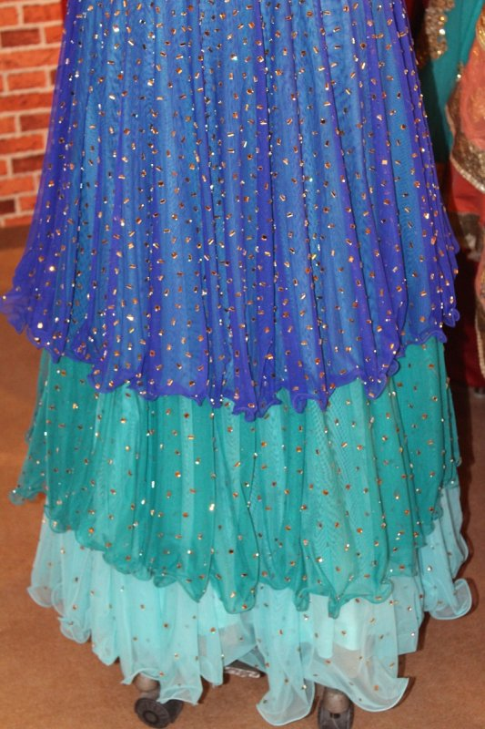 peacock_blue_green_three_shade_dress_with_bell