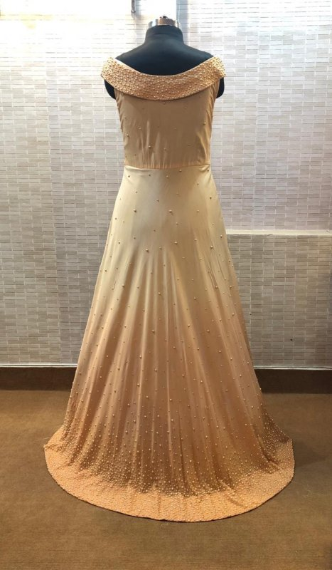 off_shoulder_three_size_light_peach_color_gown