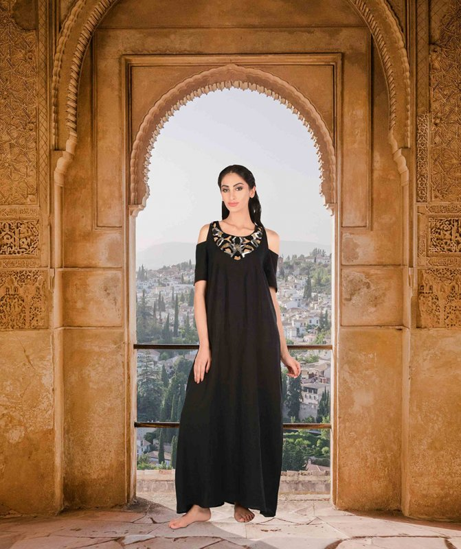 isabella_black_with_gold_embroidery_maxi_dress