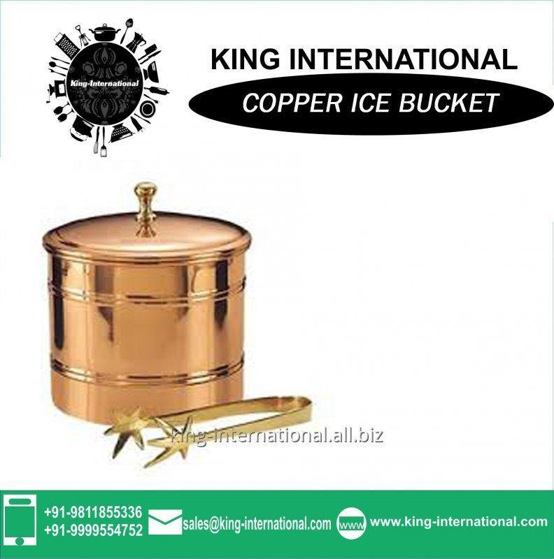simple_design_copper_ice_bucket_stand