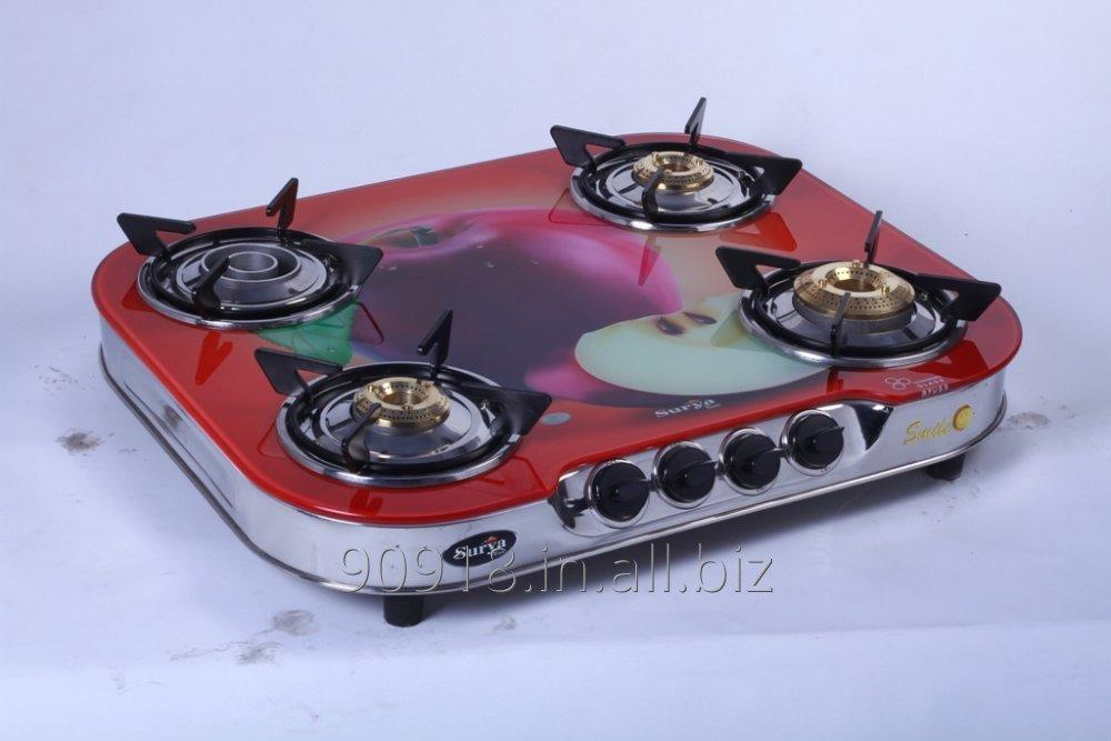 4_burner_stove_glass_top_gas_stove_round_shape